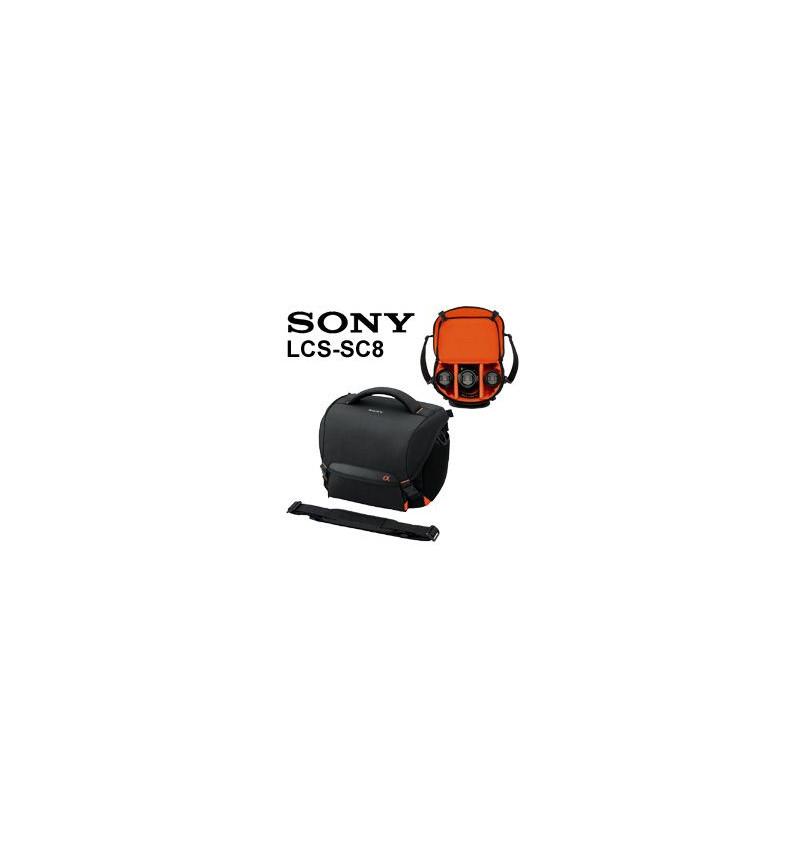 Bolsa de transporte suave para câmaras DSLR e SLT e lentes adicionais