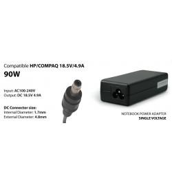 Transformador 90W compativel COMPAQ HP 18,5V 4,9A 1,7/4,8 BULLET