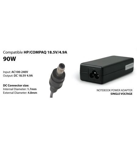Transformador 90W compativel COMPAQ, HP 18,5V 4,9A 1,7/4,8 BULLET