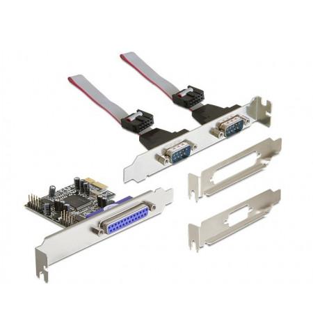 Placa PCI express com 2 portas Série e 1 porta paralela