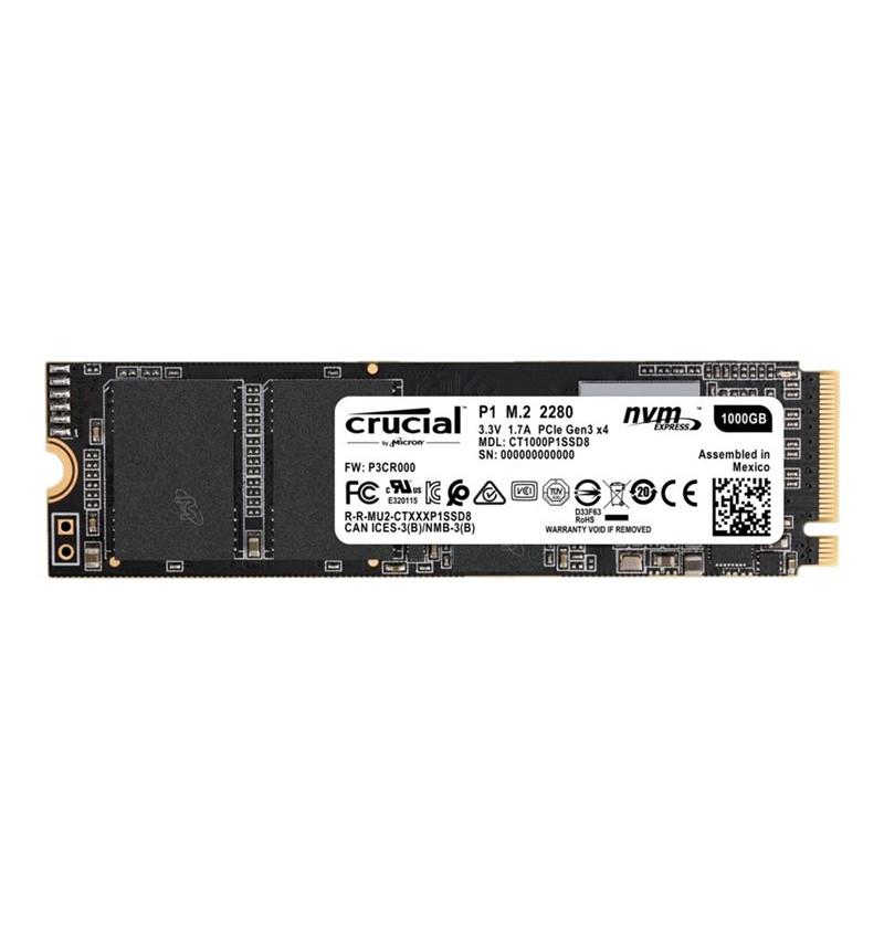 Crucial P1 1000GB 3D NAND NVMe PCIe M.2 SSD - CT1000P1SSD8