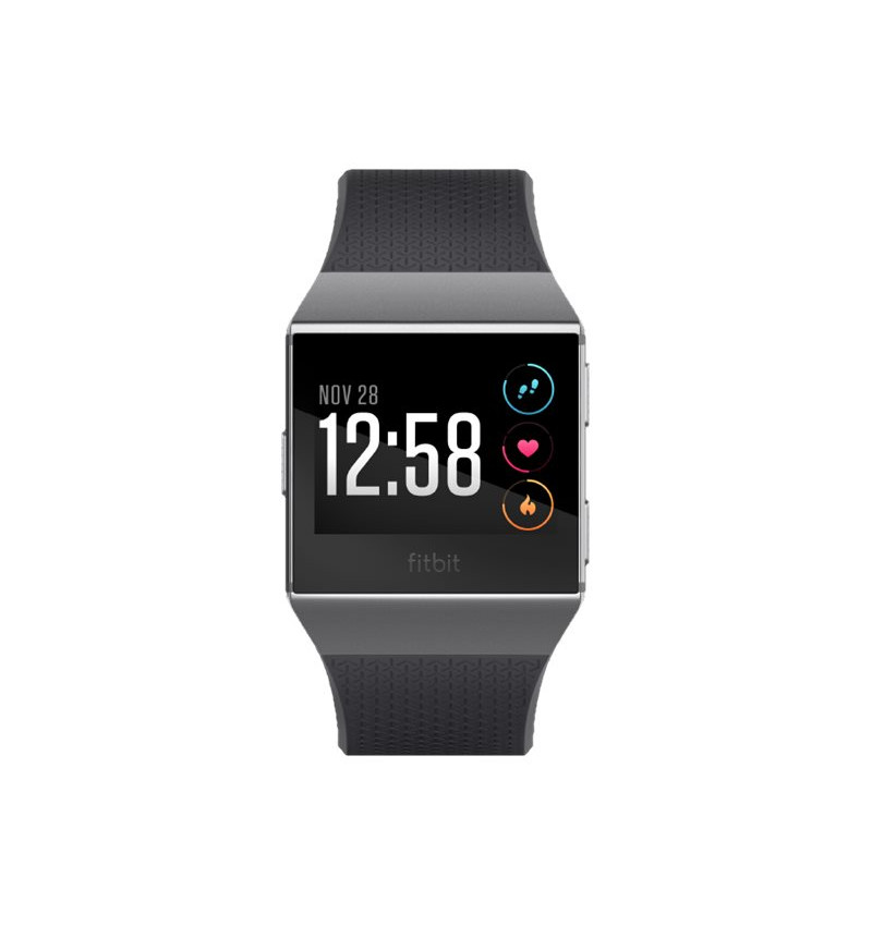 Fitbit Ionic - Relógio inteligente - Bluetooth, Wi-Fi, NFC - 50g - carvăo vegetal, cinza fumaça - FB503GYBK-EU