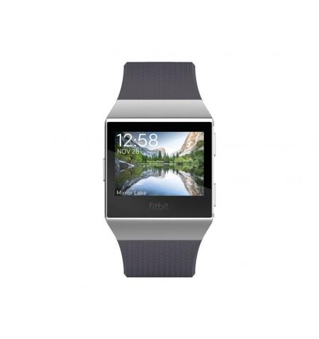 Fitbit Ionic - Relógio inteligente - Bluetooth, Wi-Fi, NFC - 50 g - azul cinzento, cinza prateado - FB503WTGY-EU