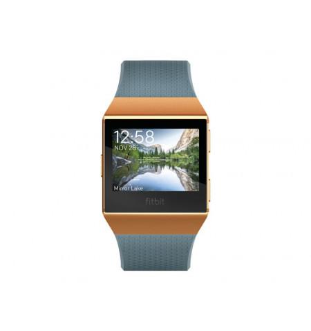 Fitbit Ionic - Relógio inteligente - Bluetooth, Wi-Fi, NFC - 50 g - cor de laranja queimado, azul ardósia - FB503CPBU-EU