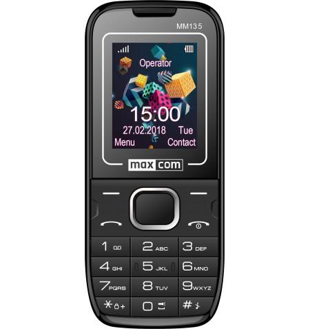 """Telemovel Maxcom Classic MM135 1,77"""" Dual SIM 2G Preto/Azul"""
