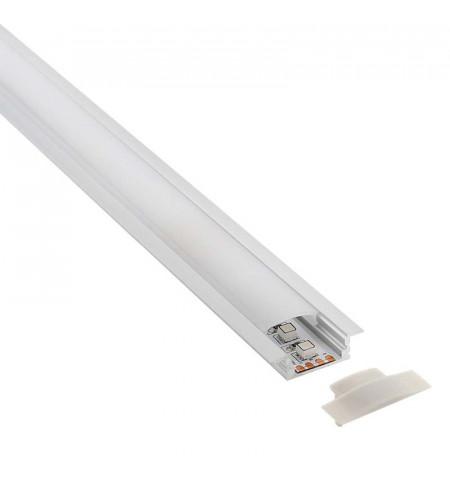 KIT - Perfil aluminio KOBE PRESS para tiras LED, 1 metro