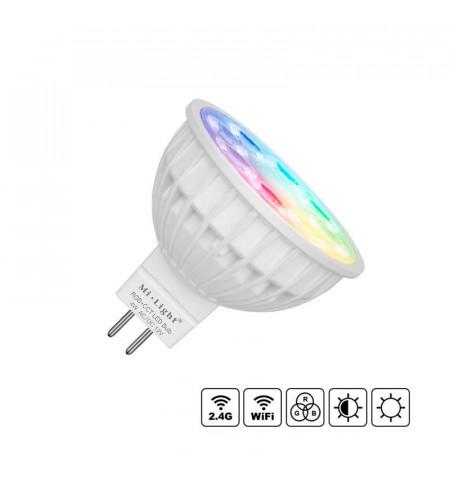 Bombilla LED WiFi MR16 Bulb 4W RGB+CCT, RGB + Blanco dual, regulable