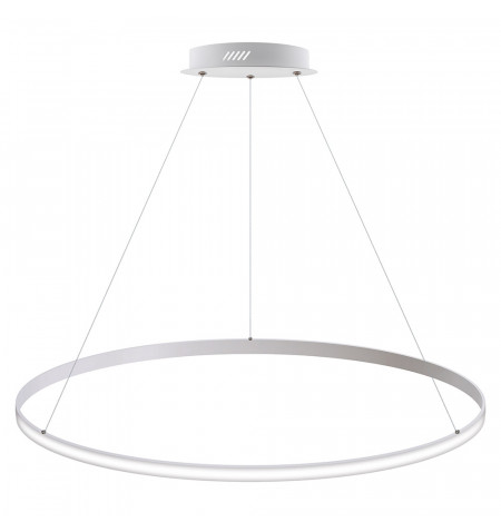 Luminaria colgante CYCLE OUT, 95W, blanco, Ø100cm, Blanco frío