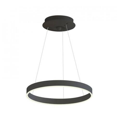 Lámpara colgante RINGEND 28W, negro, Triac regulable, Ø40cm, Blanco neutro, regulable