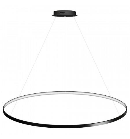 Luminaria colgante CYCLE IN, 130W, antracita, Ø140cm, Blanco frío