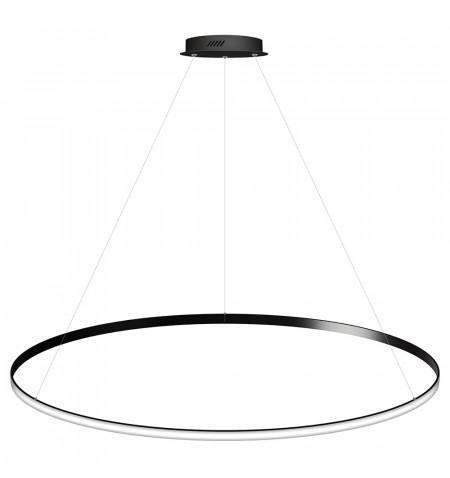 Luminaria colgante CYCLE OUT, 130W, antracita, Ø140cm, Blanco neutro