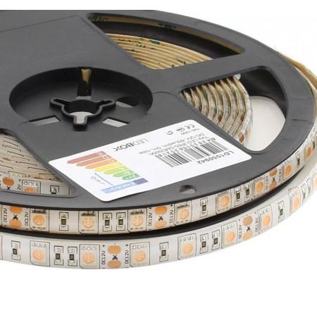 Tira LED SMD5050, DC12V, 5m (60 Led/m), ROSA - IP65, Rosa/Magenta