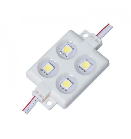 Módulo Led ABS Monocolor, 4xSMD5050, 1,44W, Blanco cálido