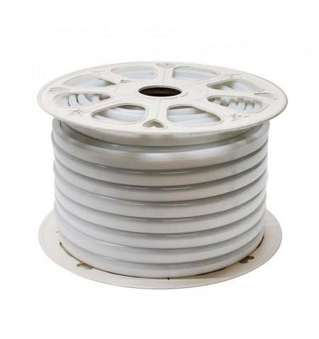 Led NEON Flex Monocolor, 220V, 9x18mm, 1 metro, Blanco cálido