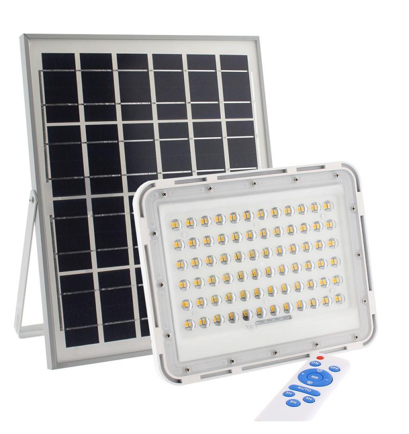 Proyector LED SOLAR 100W, Blanco frío