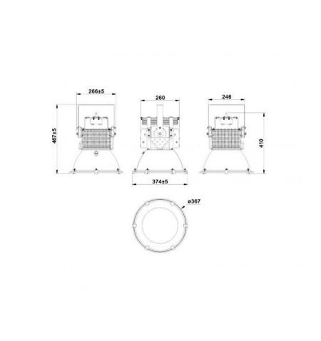 Proyector High Power 200W, Blanco frío