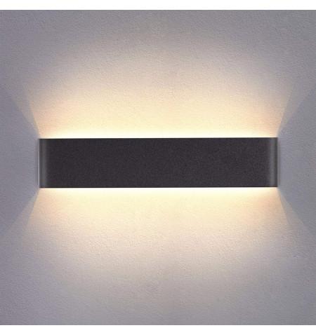 Aplique Led KLAN 410, 14W, negro, Blanco frío