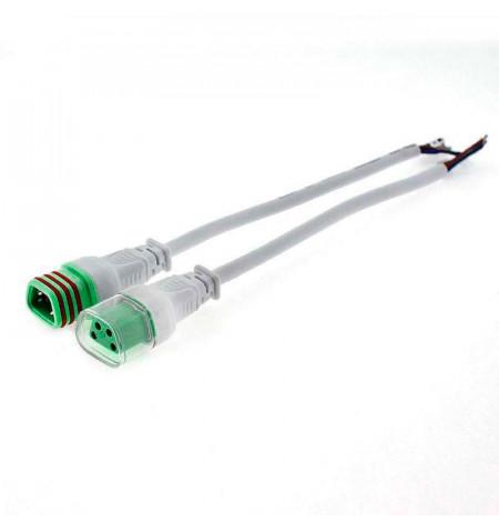 Cables conexión 4 Pinx0,5mm, 20cm, IP66, blanco