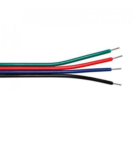 Cable de conexión para tiras LED RGB 1 metro - 4x0,50mm