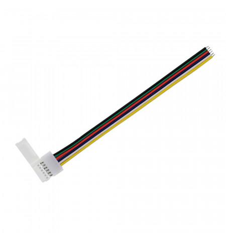 Cable de conexión rápida para tira LED RGB+CCT (6 Pin) 15cm