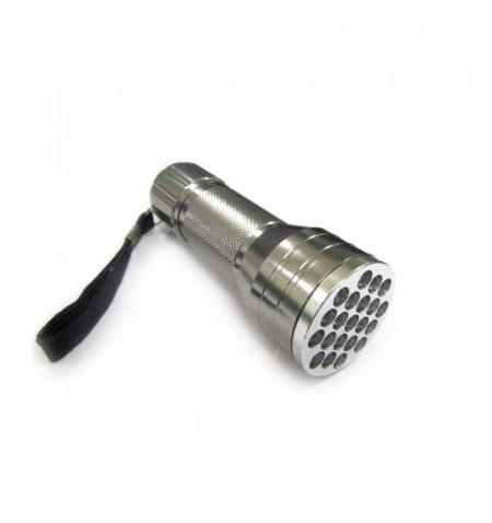 Linterna LED de aluminio de 21 led, Blanco frío
