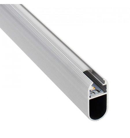 Perfil aluminio LOCKER, 2 metros