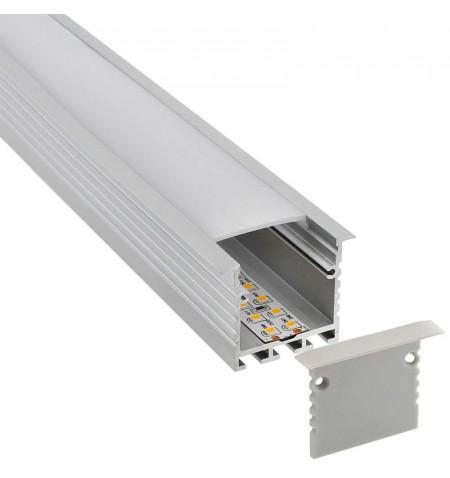 KIT - Perfil aluminio TEITO para tiras LED, 2 metros