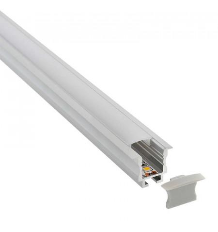 KIT - Perfil aluminio TEITO MINI para tiras LED, 2 metros