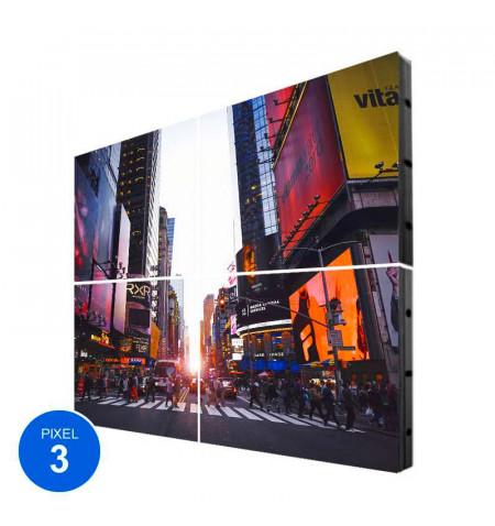 Pantalla LED Interior, Pixel 3, RGB, 1.22m2, 4 Módulos + Control