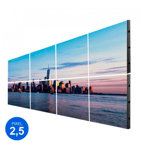 Pantalla LED Interior, Pixel 2.5, RGB 2.45m2, 8 Modulos + Control