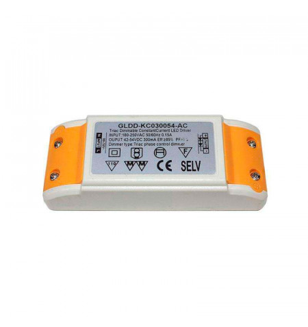 LED Driver DC42-54V/16W/300mA,TRIAC Regulable, regulable