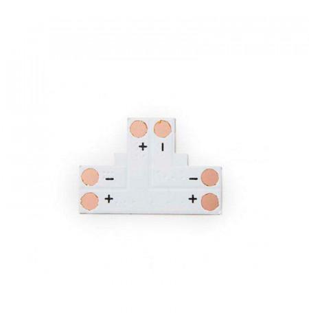 Conector T para tiras monocolor 2 Pin - 8mm