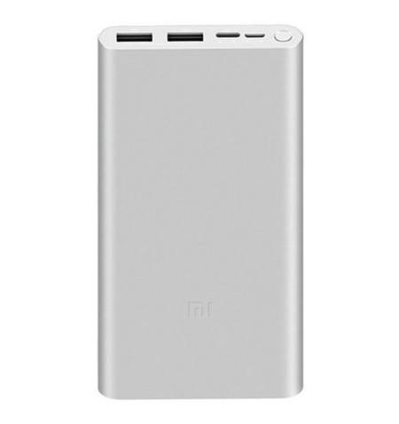 Powerbank Xiaomi Mi Bank 3 10.000mAh Prata - Levante Já em Loja