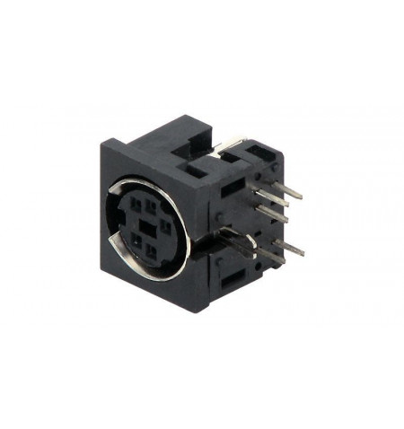 Conector Mini–Din F para soldar de chassi ( SD DC 05 )