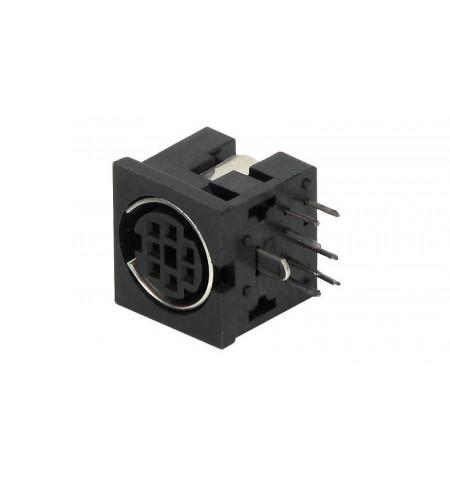 Conector Mini–Din F para soldar de chassi ( SD DC 07 )
