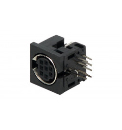 Conector Mini–Din F para soldar de chassi ( SD DC 08 )