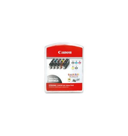 Tinteiro Original Canon CLI-8 Preto,Foto Ciano,Foto Magenta,Vermelho,Cinzento (0620B027)