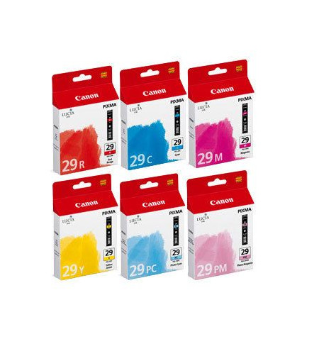 Tinteiro Original Canon PGI-29 Ciano,Magenta,Amarelo,Foto Ciano,Foto Magenta,Vermelho (4873B005)