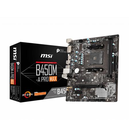 MSI B450M-A PRO MAX SKT AMD AM4 2xDDR4 VGA/DVI/HDMI mATX - 911-7C52-002