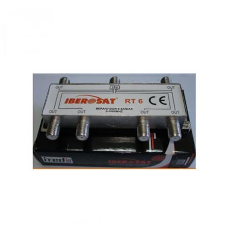 REPARTIDOR 6 SAÍDAS 1000Mhz IBEROSAT - RT 6