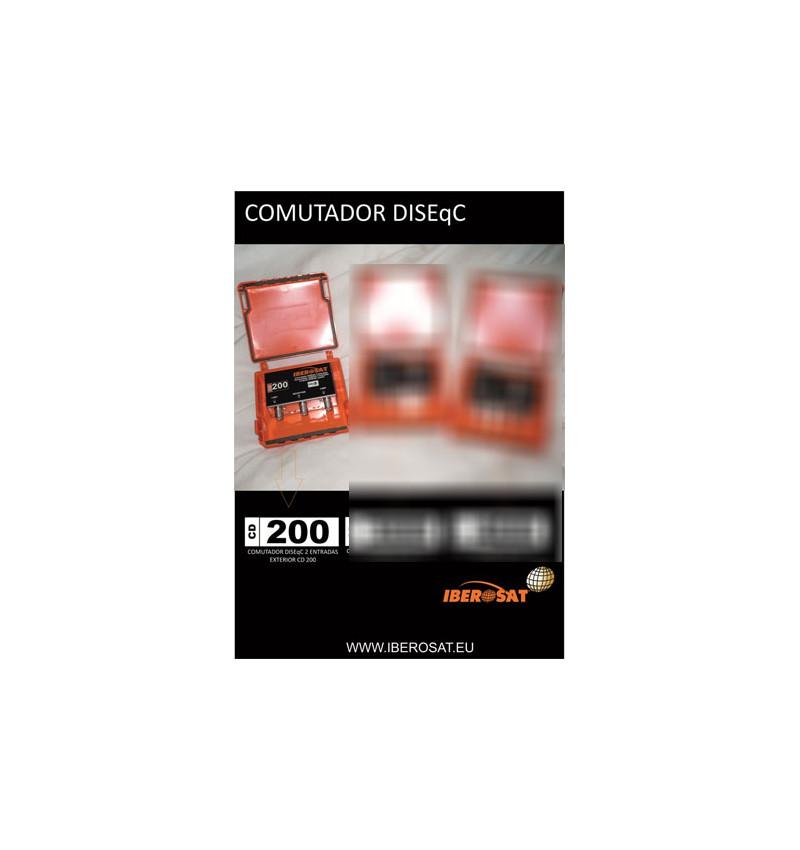 COMUTADOR DISEqC 2.0 2ENT. EXTERIOR Iberosat-CD200