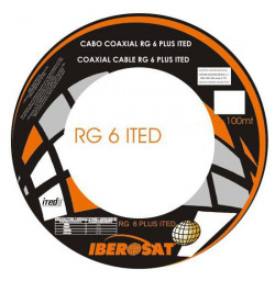 CABO COAXIAL ITED BRANCO Iberosat - 100M - RG6