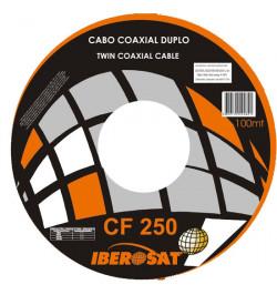 CABO COAXIAL FINO DUPLO BR Iberosat - 100M - CF250