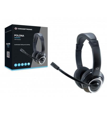 Headset Conceptronic USB POLONA - POLONA01B