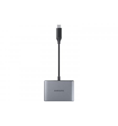 Adaptador Samsung (USB-A,HDMI,TYPE-C) Cinzento