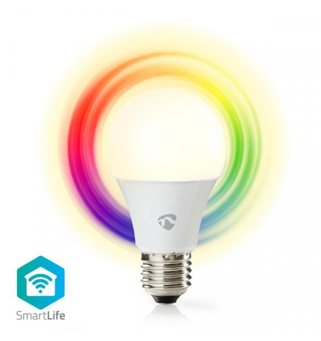 NEDIS WIFI SMART LED BULB FULL COLOUR AND WARM WHITE E27