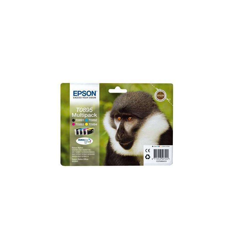 Tinteiro Original Epson MULTIPACK Tricolor (CMYK) para Stylus S20/ 21/ SX105/ 115/ 205/ 215/ 218/ 405/ 415/ Office BX300F