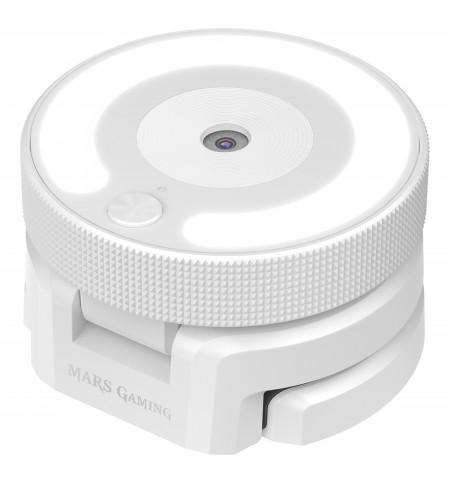 Webcam MARS GAMING MWPRO PRO 1920X1080 FHD, LIGHT RING, 90º FOV, GLASS, WHITE