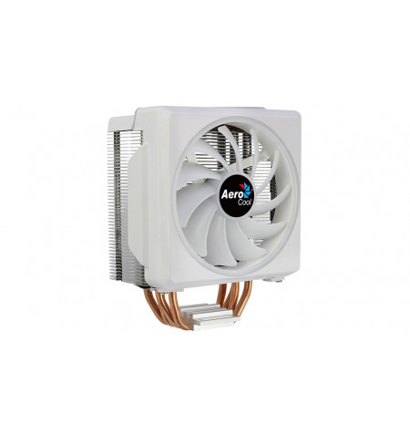Cooler AEROCOOL CYLON4F CPU COOLER, 12CM ARGB PWM FAN, 4XHCTT, 145W, UNIVERSAL, WHITE