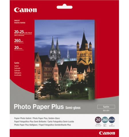 "Papel Foto CANON Plus Semi-gloss / 20x25cm (8x10""), Cx. 20 Folhas, 260Grs"